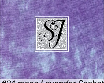 LAVENDER SACHET hand tie dyed Needlepoint Canvas #24 CONGRESS 17x23