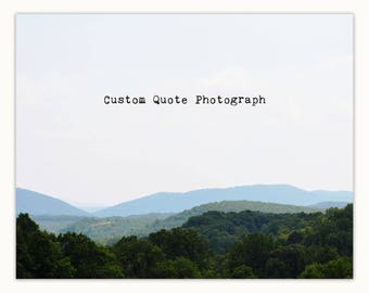 Inspirational Quote about life, Blue Ridge Mountains Landscape Photography, To laugh often and much... this is to have succeeded