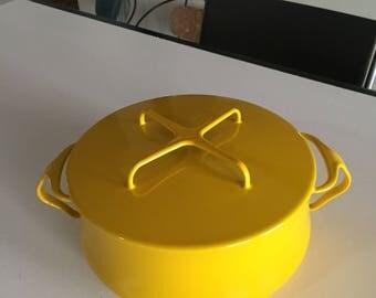 Dansk Kobenstyle/Dansk Enamelware IHQ/Yellow Dutch Oven/Enamel Stockpot/ Made in France/Jens Quistgaard /Dansk Designs/ By Gatormom13