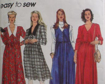 Simplicity 8602 - Raised Waist Dress or Jumper Sewing Pattern - Sizes 6 -8-10, Bust 30 1/2 - 32 1/2