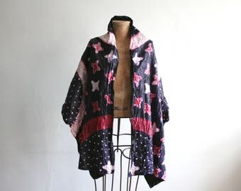 Purple Magenta Batik Printed Cotton Shawl