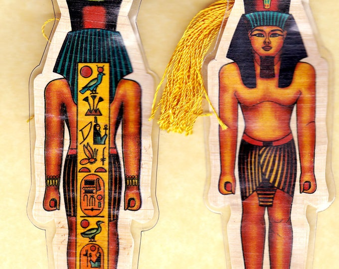 NEW! Egyptian Pharoah Papyrus Bookmarks. A unique, colorful, useful gift for book lovers! You won't find these in stores!