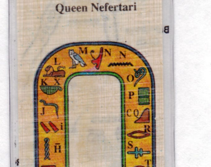 NEW! Queen Nefertari Papyrus Bookmarks! Unique, colorful, beautiful in design. Nice, inexpensive gift for your wife, friend, sister!