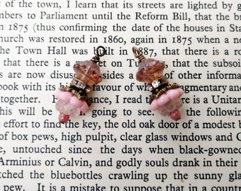 Beaded Glass Drops Instant Earrings