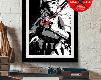 "Star Wars Art - SALE! 18""X24"" - Stormtrooper - Star Wars Poster, Art Print, Stormtrooper print, Star Wars fan art, Star Wars Gift"