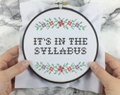 It's In The Syllabus - wee little samplers - PDF Cross-stitch Pattern - INSTANT DOWNLOAD