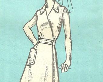 Sleeveless Wrap Dress Pattern Bust 38 Unused Marian Martin Mailorder 9454 FF