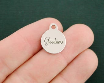 Goodness Stainless Steel Charms - Smaller Size - Exclusive Line - Quantity Options - BFS2908 NEW2