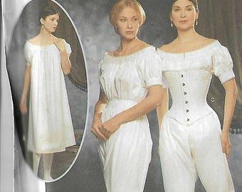 Vintage Sewing Pattern Simplicity 9769 Fashion Historian Martha McCain Civil War Undergarments Size 6,8,10.12