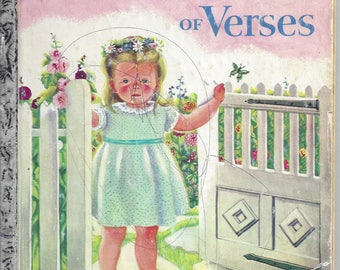 Vintage A Child's Garden of Verses, A Little Golden Book, Children's Book, 1957