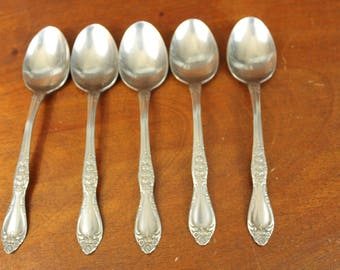 CAROLINA Northland Stainless Japan Onieda replacement flatware vintage silverware rose floral flower knife fork spoon BIN 65