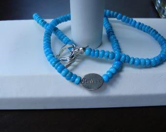 Believe - Turquoise bead necklace