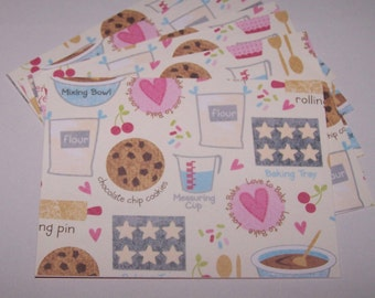 Any occasion cards. Handmade cards. Card set. Blank card set. Paper handmade cards. Blank cards. Cards with cookies. Pastel color cards.