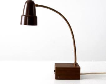 mid-century desk lamp, goose neck lamp, 1960s Universal Lamp Co