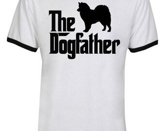 The Dogfather American Eskimo Shirt - The Dog Father American Eskimo Shirt - Dog Dad - Dog Lover - Men Unisex Ringer Tee T-Shirt - IZRSUB185