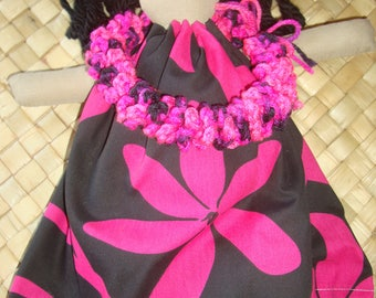 Hula baby hot pink and black 14 inches tall