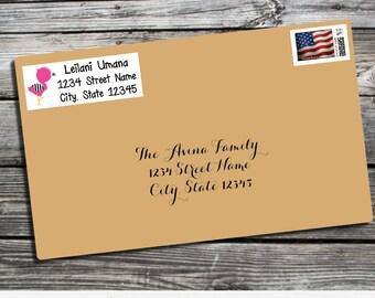 Address Label, Flamingo Address Label, Pink Flamingo Label, Return Address Label, Envelope Mailing Label, Personalized Label, Flamingo