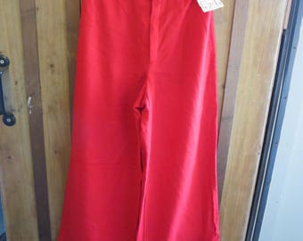 RARE 1970's High Waist  Wide Leg Cuff Pants  NOS by Happy Legs