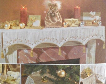 Butterick B4370 Victorian Christmas Decorating  Sewing Pattern Christmas Ornament Pattern