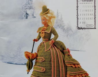 Calendar Bed Doll Society | Crochet Pattern | Annie's Attic | Miss NOVEMBER 1993 | VICTORIAN LADY Centennial Collection | Annie Potter