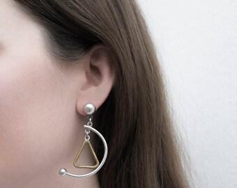 Taxco Silver Earrings / Dangle Earrings / Modernist Jewelry