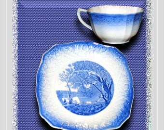 """Salem China """"Corot"""" Cup and Saucer"""