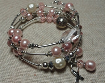026 Breast Cancer Awareness  Wrap Bracelet