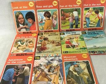 Ladybird Key Words Reading Scheme B Series 1960-1970's set of 11