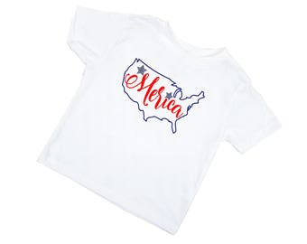 4th of July Shirt for Girl - Fourth of July Shirts for Girls - 4th of July Baby Girl - Merica - Fourth of July Baby Girl - Red White & Blue