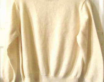 Ivory Mock Turtleneck Sweater L Petite