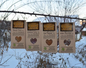 Foodie Gift Valentine Gift Set of Four Artisan Spice Blends Natural Spices Organic Spices Gourmet Spices - DIY Dip Mix Valentine Heart Gift