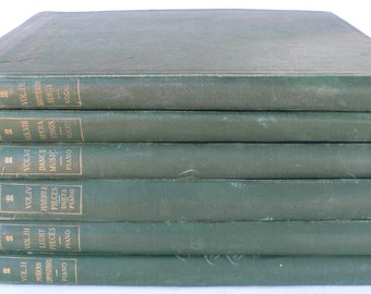 Antique music books, The Ideal Home Music Library, 6 volumes, songs for piano, from Diz Has Neat Stuff