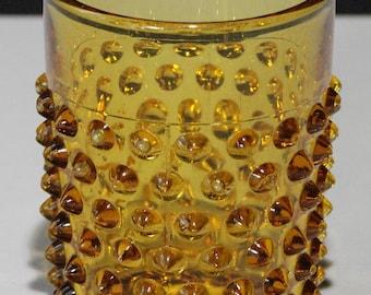 Vintage Amber Hobnail Tumbler/Juice Glass