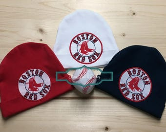 Red Sox Baby Hat Made from Boston Red Sox Fabric, Red Sox Baby, Boston Baby, Baby Boy Red Sox, Baby Red Sox, Baby Shower Gift, New Baby Gift