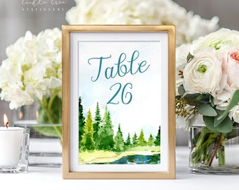 Reception Table Numbers - Outdoor Wedding (Style 13724)