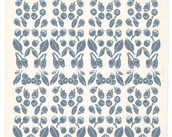 Blueberry Organic Kitchen Towel - Blue Agave