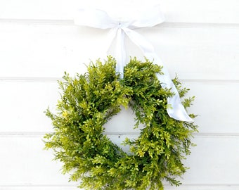 MINI Window Wreath-Tea Leaf Wreath-Mini Farmhouse Wreath-Country Cottage Wreath-Small Wreath-Wall Hanging-Small Wreath-Custom Made Gifts