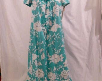 HAWAIIAN BREEZE vintage tropical floral maxi dress - new with tag - Liberty House Honolulu sz XS