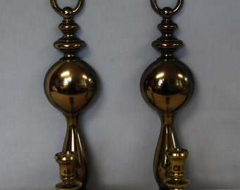 1977 Syroco Gold Wall Sconces