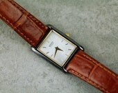 Vintage ladies Seiko watch with MOP (mother of pearl) dial and brown leather strap