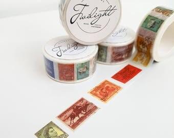 Vintage Postage Stamp Washi Tape