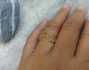 Celtic Braided ring. Wire weave ring. Wirework jewelry. Weave ring band. Wide celtic ring. Israel jewelry. Custom finish. Size 5 - 9 US