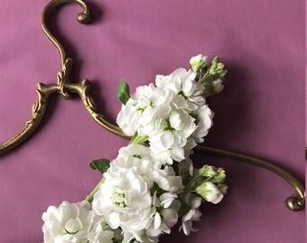 Gold Vintage Brass Curved Clothes Antique Brass Coat Art Nouveau Unique Hanger