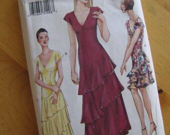 Uncut McCalls Sewing Pattern 7258 - Misses Dress - Size 14-18