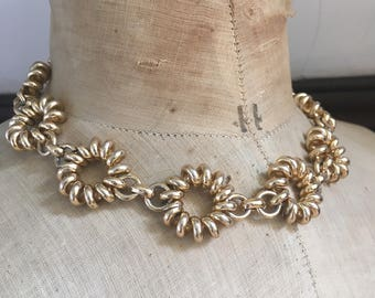 Vintage Neklace 70 s gold chain