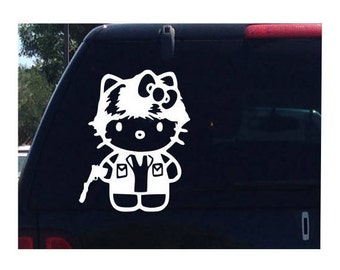 Hans Solo Hello Kitty Star Wars Car Decal