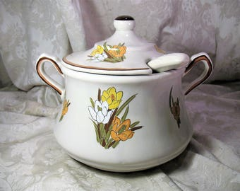 California Pottery Crocus Tureen with Ladle #1038