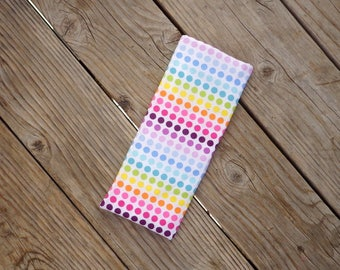 Travel Flat Iron Case-Curling Iron Case Rainbow Polka dots Travel Cover