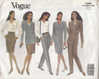 90s Wardrobe Pattern Vogue 1044 Sizes 8 10 12 Uncut