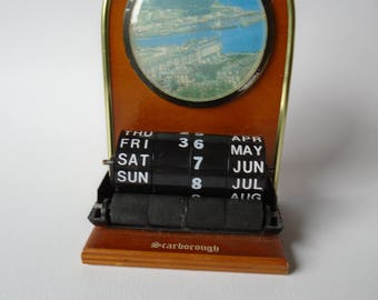 Vintage Desk Calendar Souvenir Scarborough